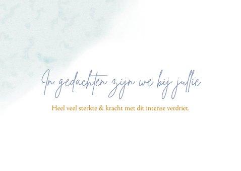 Mooie condoleancekaart met bloemen Vergeet mij nietjes 2