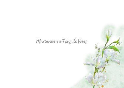 Mooie condoleancekaart met witte bloemen op waterverf 3