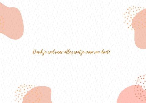 Mooie dankbaarheidskaart met warme kleuren 3