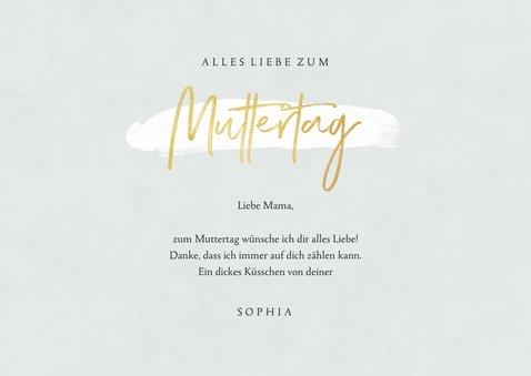 Muttertagskarte Blumen & Goldschrift 3