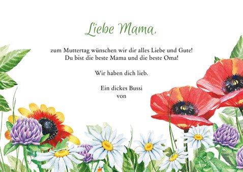 Muttertagskarte Blumenwiese 3