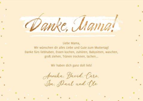 Muttertagskarte Fotos 'Danke Mama' 3