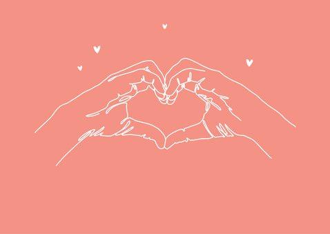 Muttertagskarte Herz aus Händen 2