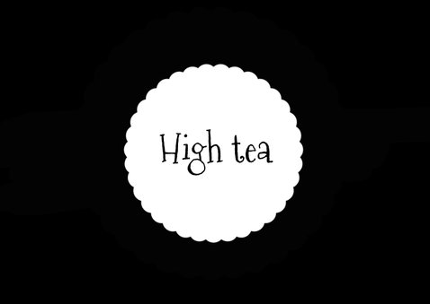 Muttertagskarte High tea Einladung schwarz weiß 2