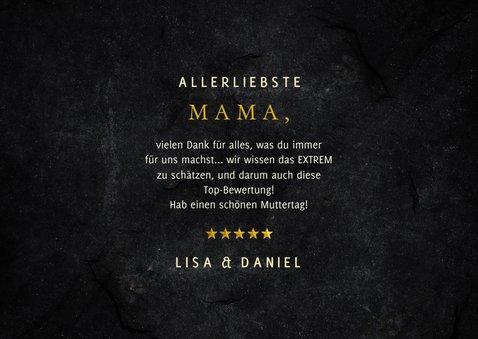 Muttertagskarte Hotel Mama 5 Sterne 3