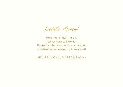 Muttertagskarte 'Liebste Mama!' drei Fotos und Herzen 3