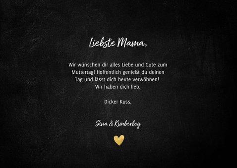 Muttertagskarte 'Mama I love you!' Typografie mit Herzen 3