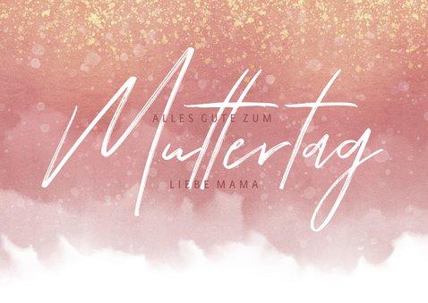 Muttertagskarte rosa Aquarelllook mit Foto innen 2