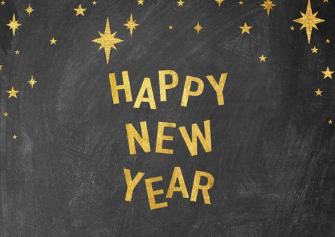 Neujahrskarte 2020 Fotocollage mit Sternen 2