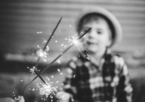 Neujahrskarte 'best wishes' mit Foto 2