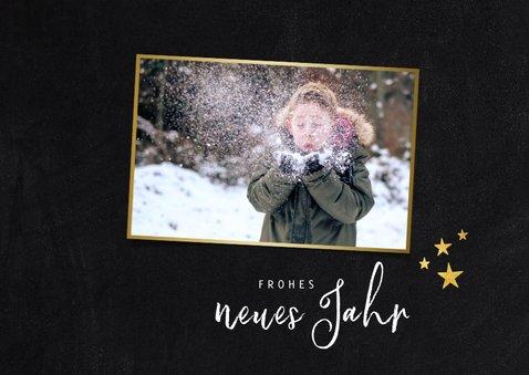 Neujahrskarte drei Fotos und Konfetti 2