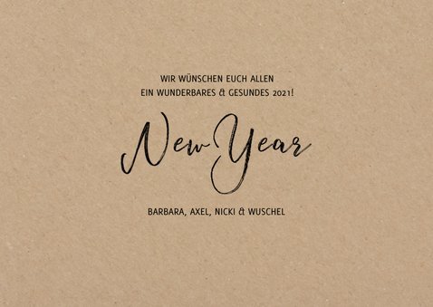 Neujahrskarte eigene Fotos Kraftpapier 3