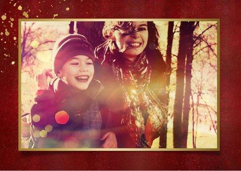 Neujahrskarte Fotocollage Rot & Gold 2