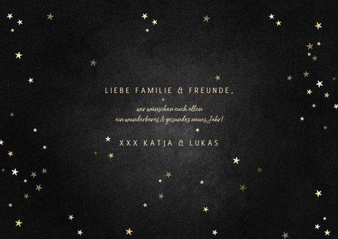 Neujahrskarte Fotocollage Sterne & Goldlook 3