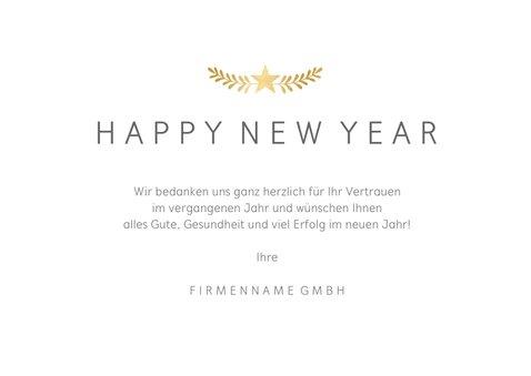 Neujahrskarte geschäftlich Fotocollage schlicht 3
