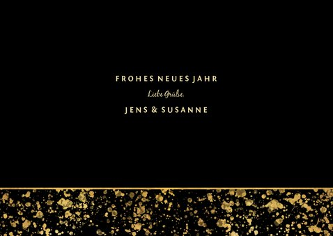 Neujahrskarte gold Fotocollage 2020 3
