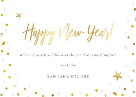 Neujahrskarte Konfetti Rahmen, Foto und Happy New Year 3