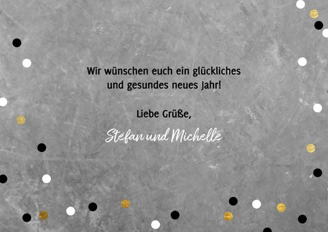 Neujahrskarte Konfetti und Happy New Year Girlande 3