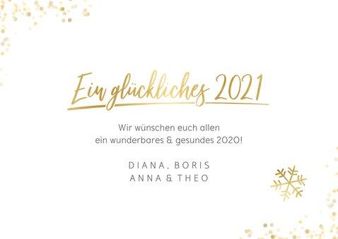 Neujahrskarte mit eigenen Fotos und Schriftzug in Goldlook 3