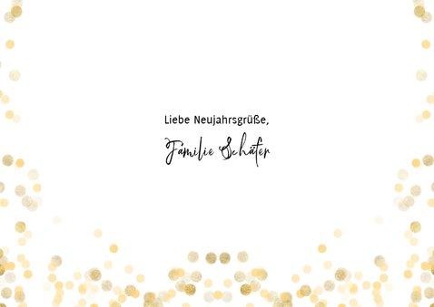 Neujahrskarte schwarz-weiß Fotocollage Happy New Year 3