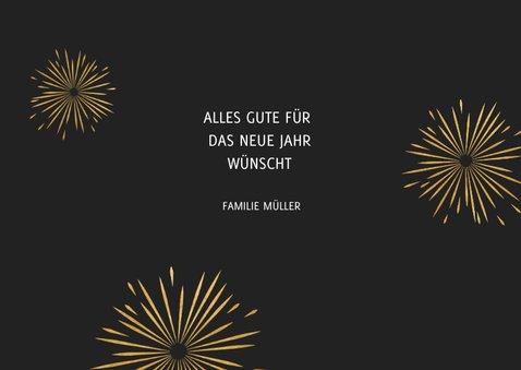 Neujahrskarte Typografie, Foto und Feuerwerk 3
