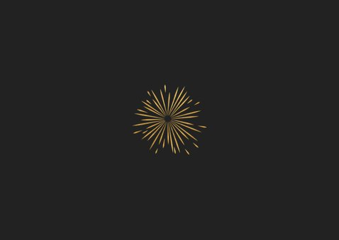 Neujahrskarte Typografie, Foto und Feuerwerk Rückseite