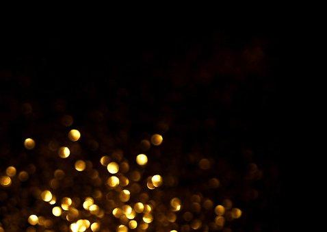 Neutrale kerstkaart  glitter - LO 2