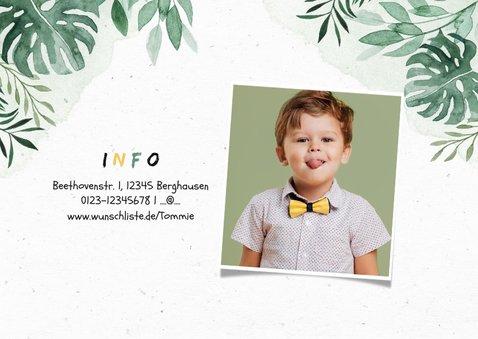 Niedliche Einladung Kindergeburtstag - Dinosaurierparty  2