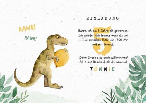 Niedliche Einladung Kindergeburtstag - Dinosaurierparty  3