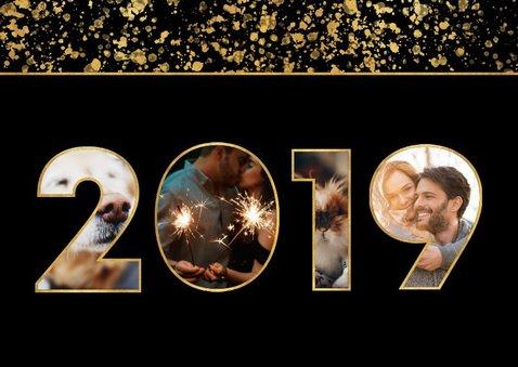 Nieuwjaarskaart 2019 fotocollage spetters 2