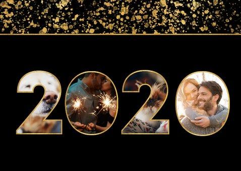 Nieuwjaarskaart 2020 fotocollage spetters 2