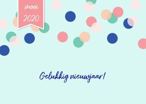 Nieuwjaarskaart 2020 goud ballon 2