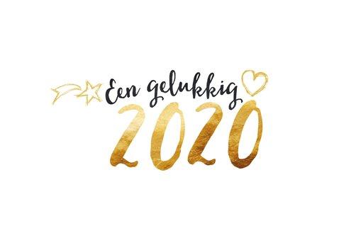 Nieuwjaarskaart 2020 goud en zwart 2
