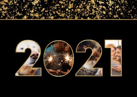 Nieuwjaarskaart 2021 fotocollage spetters 2
