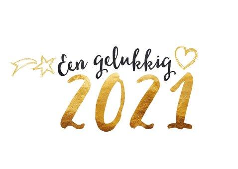 Nieuwjaarskaart 2021 goud en zwart 2