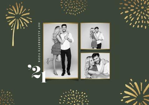 Nieuwjaarskaart 2021 vuurwerk goud stijlvol foto 2