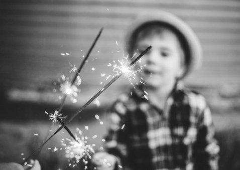Nieuwjaarskaart 'Best Wishes' goudlook met foto 2