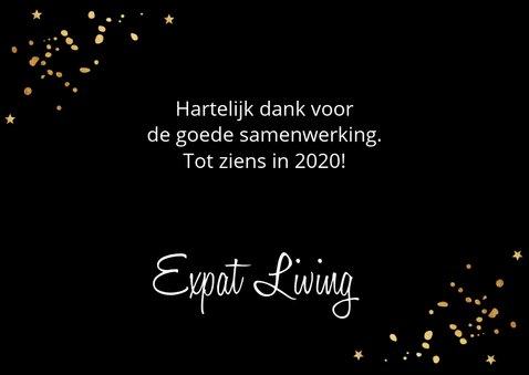 Nieuwjaarskaart confetti goud 2020 3