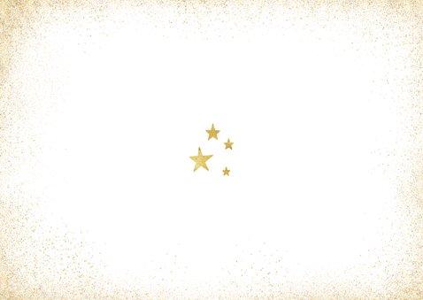 Nieuwjaarskaart foto gouden 2021 en sterren  Achterkant