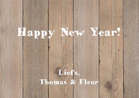 Nieuwjaarskaart foto hout hartje krijtbord 3