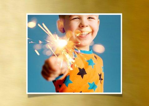 Nieuwjaarskaart foto op goud kader 2019 2