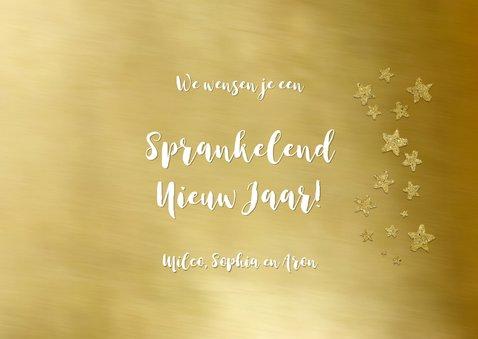 Nieuwjaarskaart foto op goud kader 3