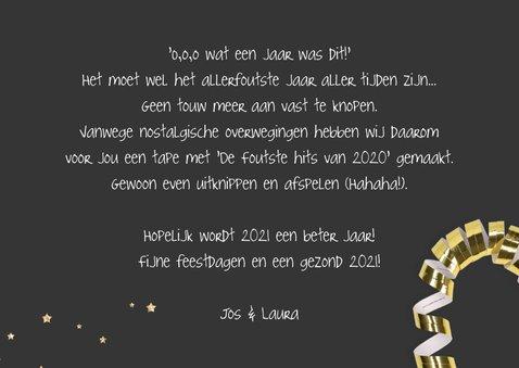 Nieuwjaarskaart fout jaar foute tape 3