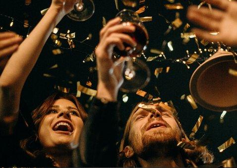 Nieuwjaarskaart gouden 2020, grote foto gelukkig nieuwjaar 2