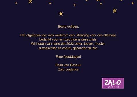 Nieuwjaarskaart hallo 2022 hopelijk ben je leuker...goudlook 3