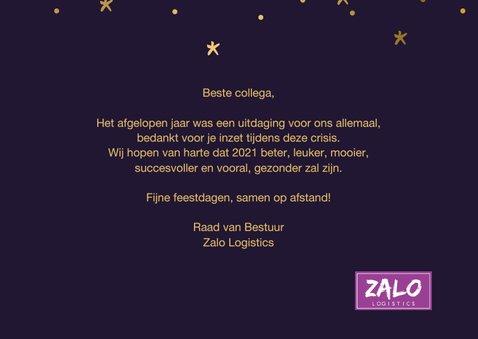 Nieuwjaarskaart hallo twintig eenentwintig goudlook 3