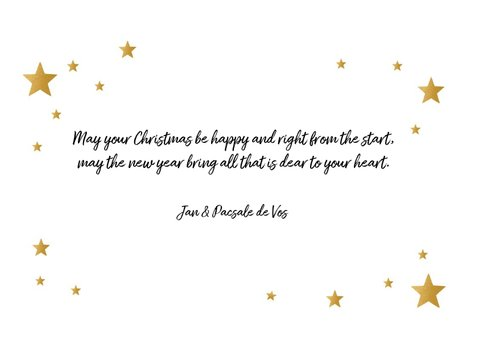 Nieuwjaarskaart happy New Year stars 3
