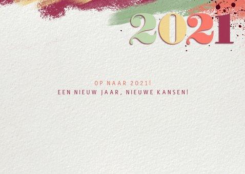 Nieuwjaarskaart kleurrijk 2021 fotocollage 2