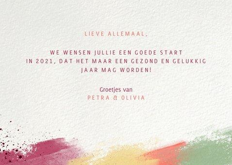 Nieuwjaarskaart kleurrijk 2021 fotocollage 3