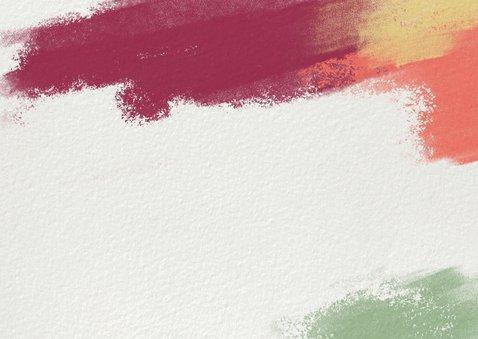 Nieuwjaarskaart kleurrijk 2021 fotocollage Achterkant